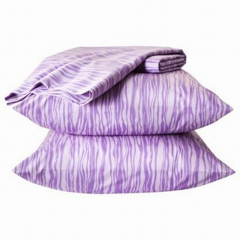 Xhilaration Easy Care Sheet Set Purple Stripe Twin XL Dorm Bed Sheets Bedding