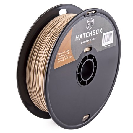 Hatchbox 3D Wood 1Kg1 75 3D Printer Filament  Dimensional Accuracy     0 05Mm  1 75 Mm  1 Kg Spool  Wood