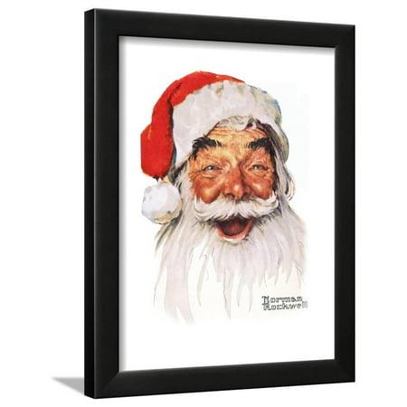 Santa Claus Framed Print Wall Art By Norman Rockwell - Walmart.com