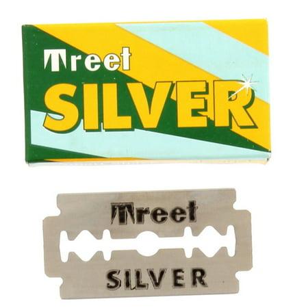Treet Silver Double Edge Razor Blades, 10 pack Treet Double Edge