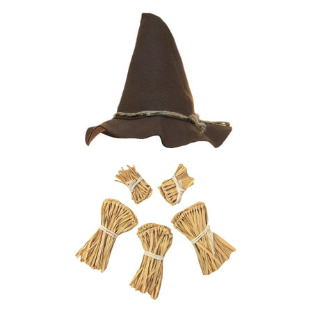 Nicky Bigs Novelties Scarecrow Costume Kit,Brown,One Size](Novelty Costume)