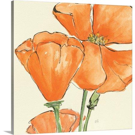 Sunshine Poppies - Great BIG Canvas | Chris Paschke Premium Thick-Wrap Canvas entitled Sunshine Poppy III