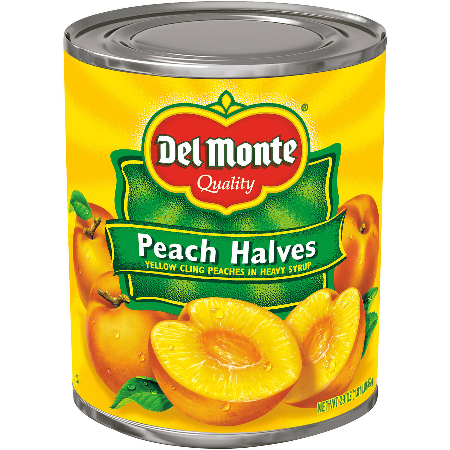 Del Monte Yellow Peach Halves Cling In Heavy Syrup, 29 oz