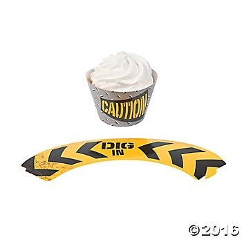 Construction Zone Cupcake Wrappers 24 count