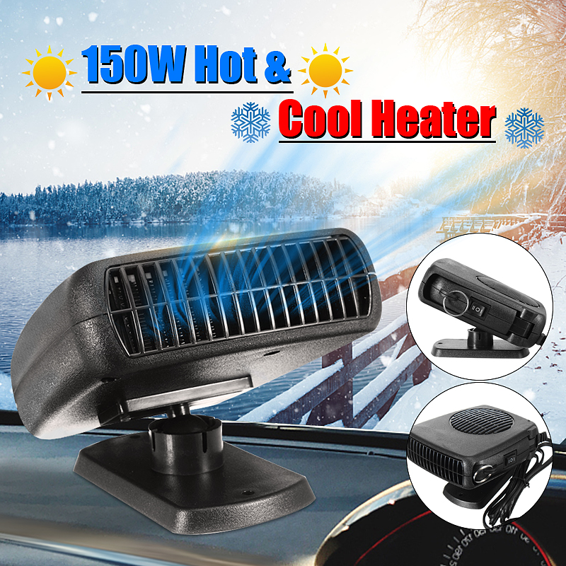 12V 150W Anion Auto Calentador Fan Defroster Demister Machine para Uso en el hogar del autom/óvil Gris Oscuro Ongoion Demister de Ventana