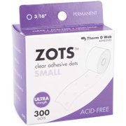 """Zots Clear Adhesive Dots-Small 3/16""""X1/64"""" Thick 300/Pkg"""