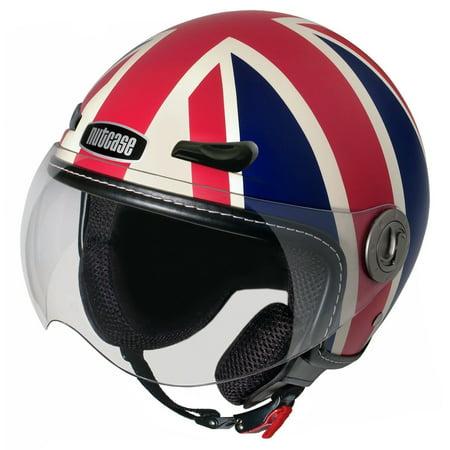 Nutcase Union Jack Matte British Uk Flag Motorcycle Scooter Helmet