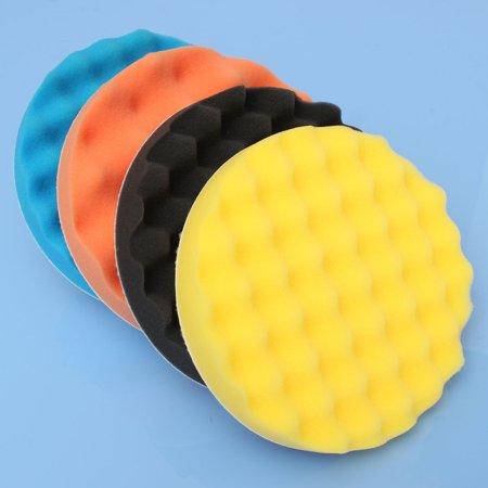 - 4pcs 7'' Sponge Foam Polishing Waxing Buffing Pads Polishers for bufferpad Car Coat Paint