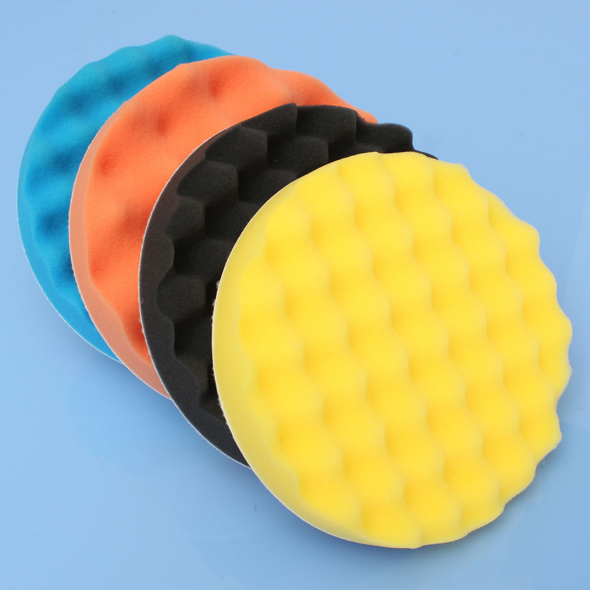 4pcs 7'' Sponge Foam Polishing Waxing Buffing Pads Polishers for bufferpad Car Coat Paint