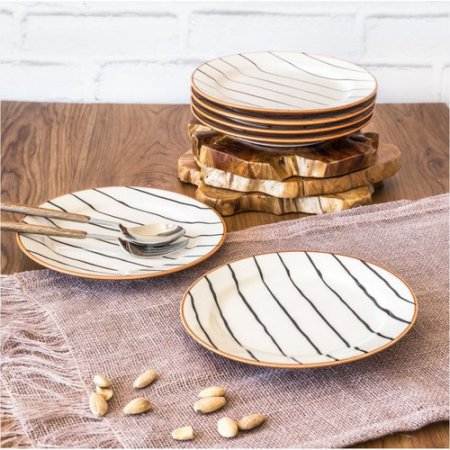 Better Homes & Gardens Sabin Striped Salad Plate, Set of 6