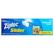 Ziploc Slider Freezer Bags, Quart, 15 Count