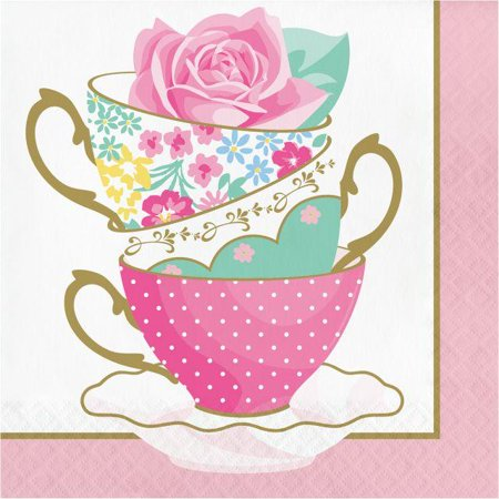 Creative Converting Floral Tea Party Napkins, 16 ct - Tea Party Party Supplies