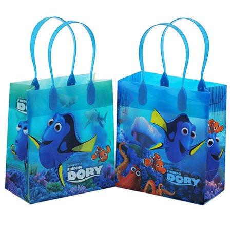 Finding Dory 12 Authentic Licensed Party Favors Reusable Goodie Small Gift Bags - Finding Nemo Party Supplies Walmart
