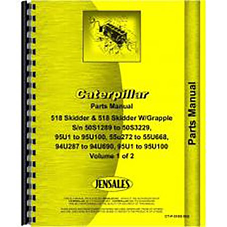 For Caterpillar 518 Skidder Parts Manual (New) - Walmart com