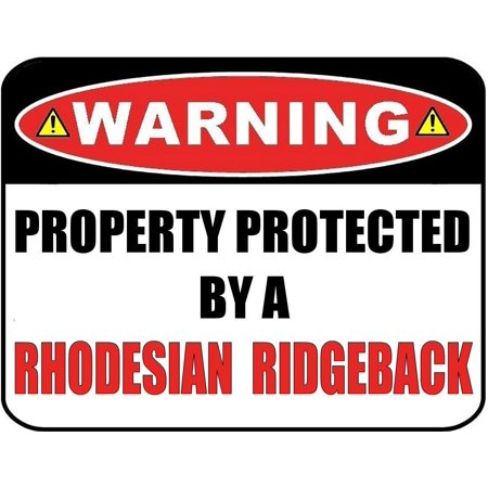Warning Property Protected by a Rhodesian Ridgeback 9 inch x 11.5 inch Laminated Dog