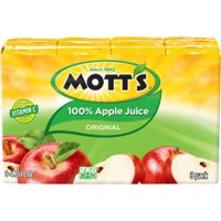 (4 Pack) Mott's 100% Original Apple Juice, 6.75 fl oz, 8 pack