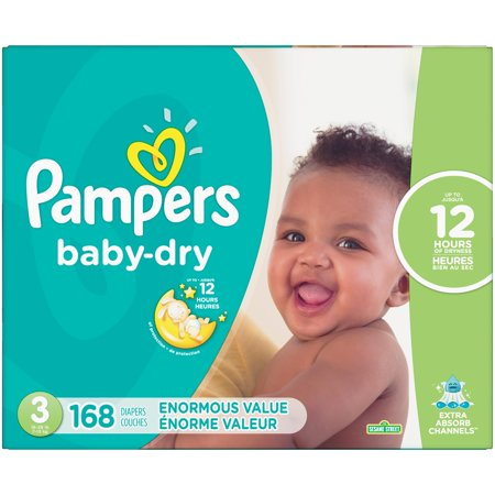21071c8f3a3 Pampers Baby Dry Diapers Size 3 168 Count - Walmart.com