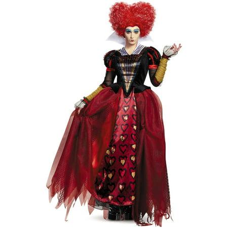 Red queen deluxe adult halloween costume Adult 4-6 - Prom Queen Halloween Costume Uk