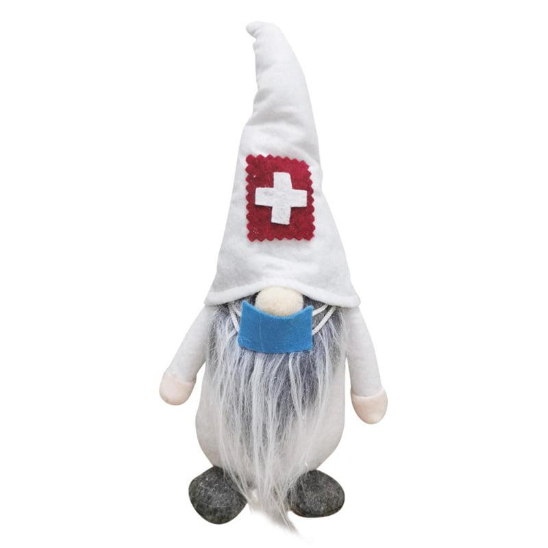 Christmas Gnome Doctor Nurse Santa Weaing Mask Xmas Ornaments Doll Decor Gifts