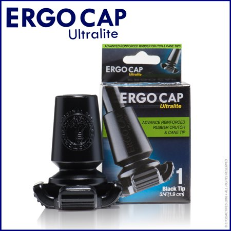 Ergocap Ultralite Cane Rubber Tip (Universal size for all types of canes)