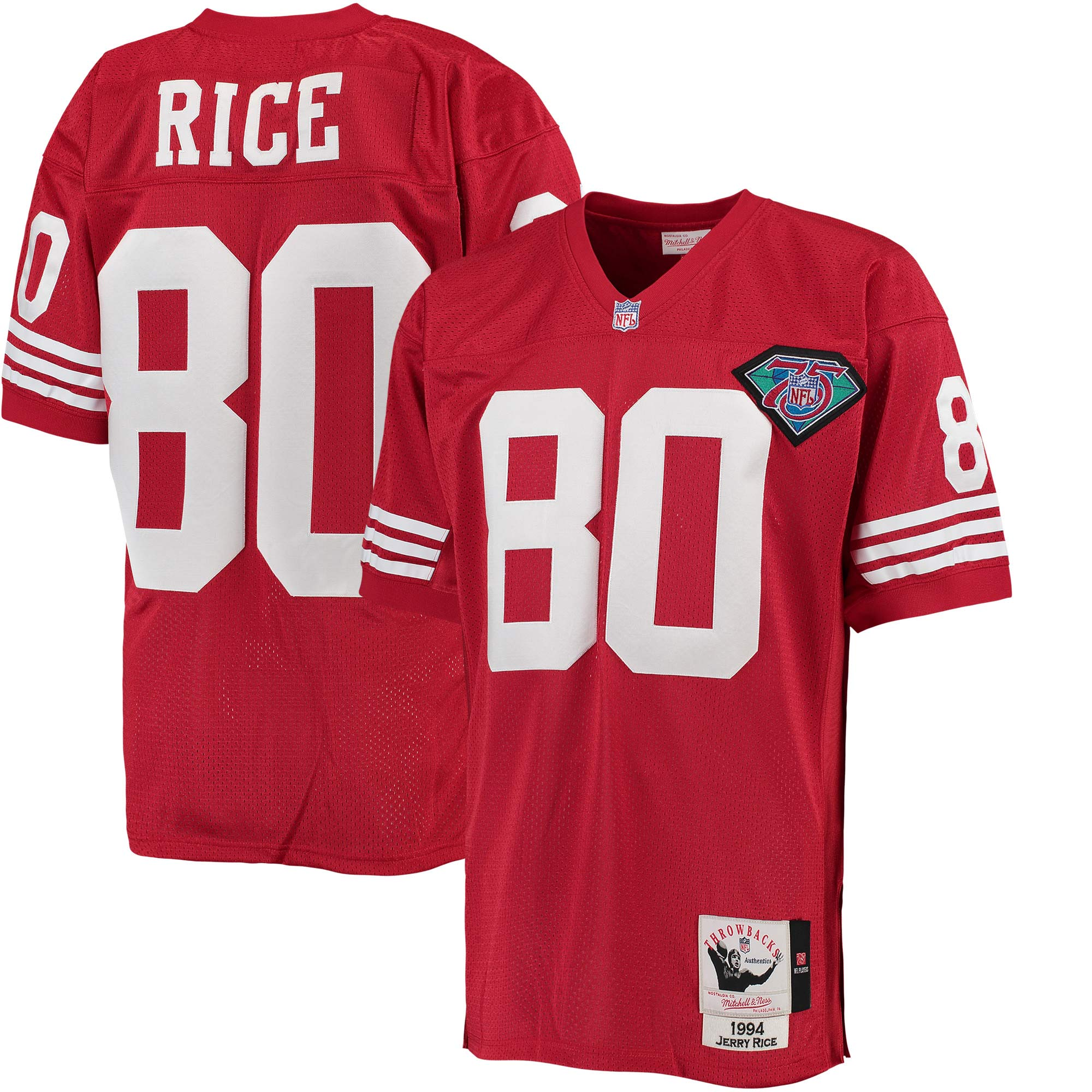 Jerry Rice San Francisco 49ers Mitchell & Ness 1994 Authentic Throwback Jersey - Scarlet