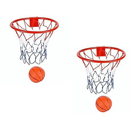 Over The Door Basketball Hoop – 2 Pack of 8-Inch Basketball Hoop With Mini Ball Set For Over The Door Use, Simple Assembly, Easy Clip-on Mount - Fun Sports Game - 300 Fun Balls