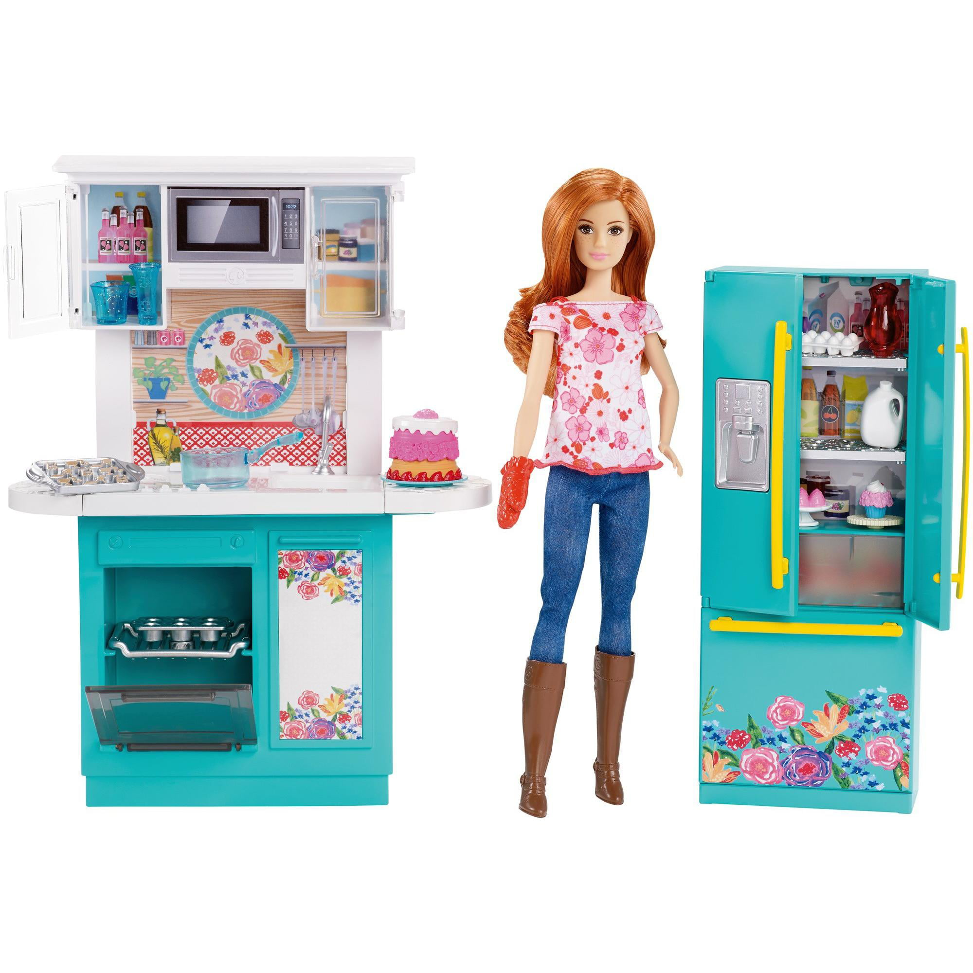 Barbie Pioneer Woman Ree Drummond Kitchen Playset With Cooking Chef