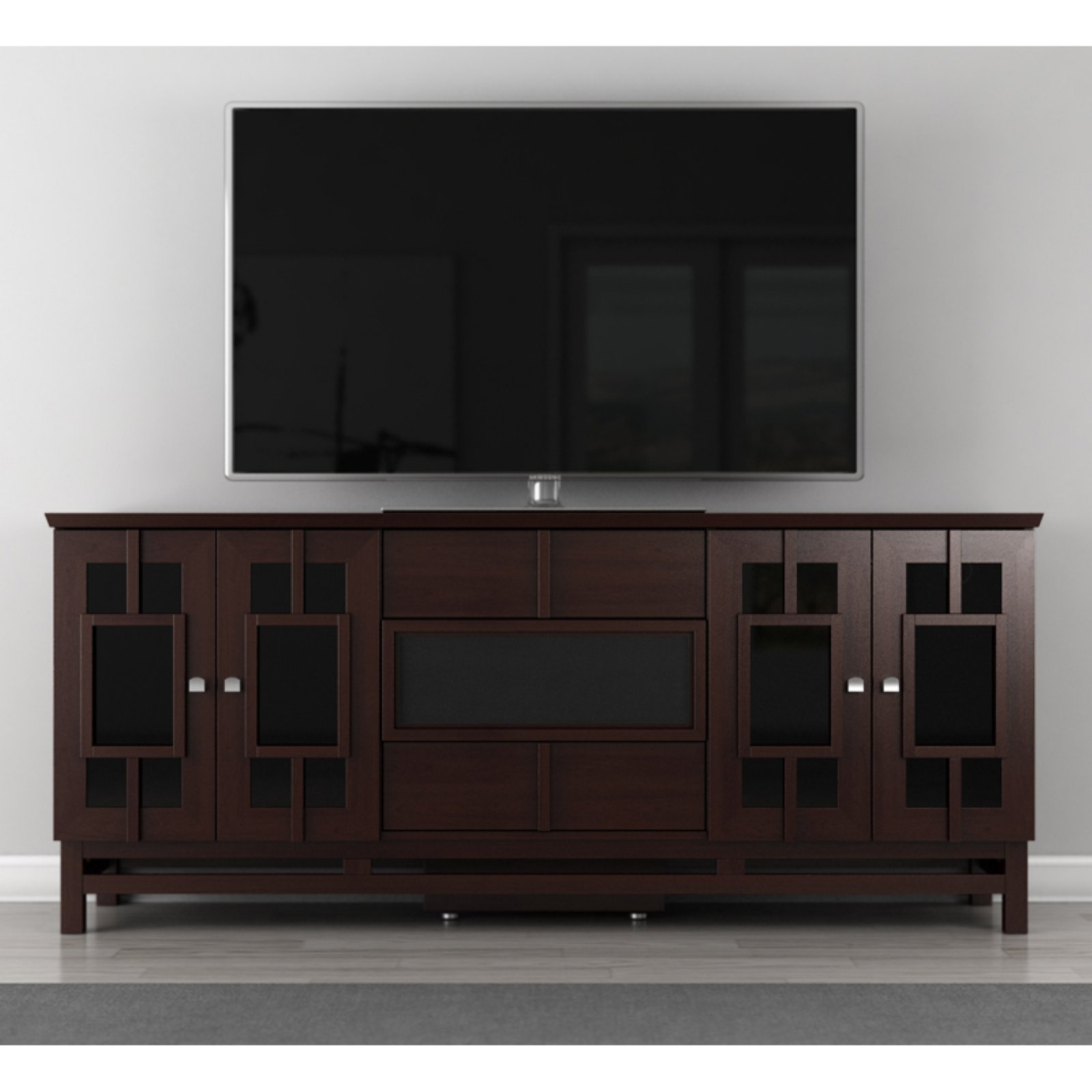 Furnitech Contemporary Asian 70 Inch TV Stand