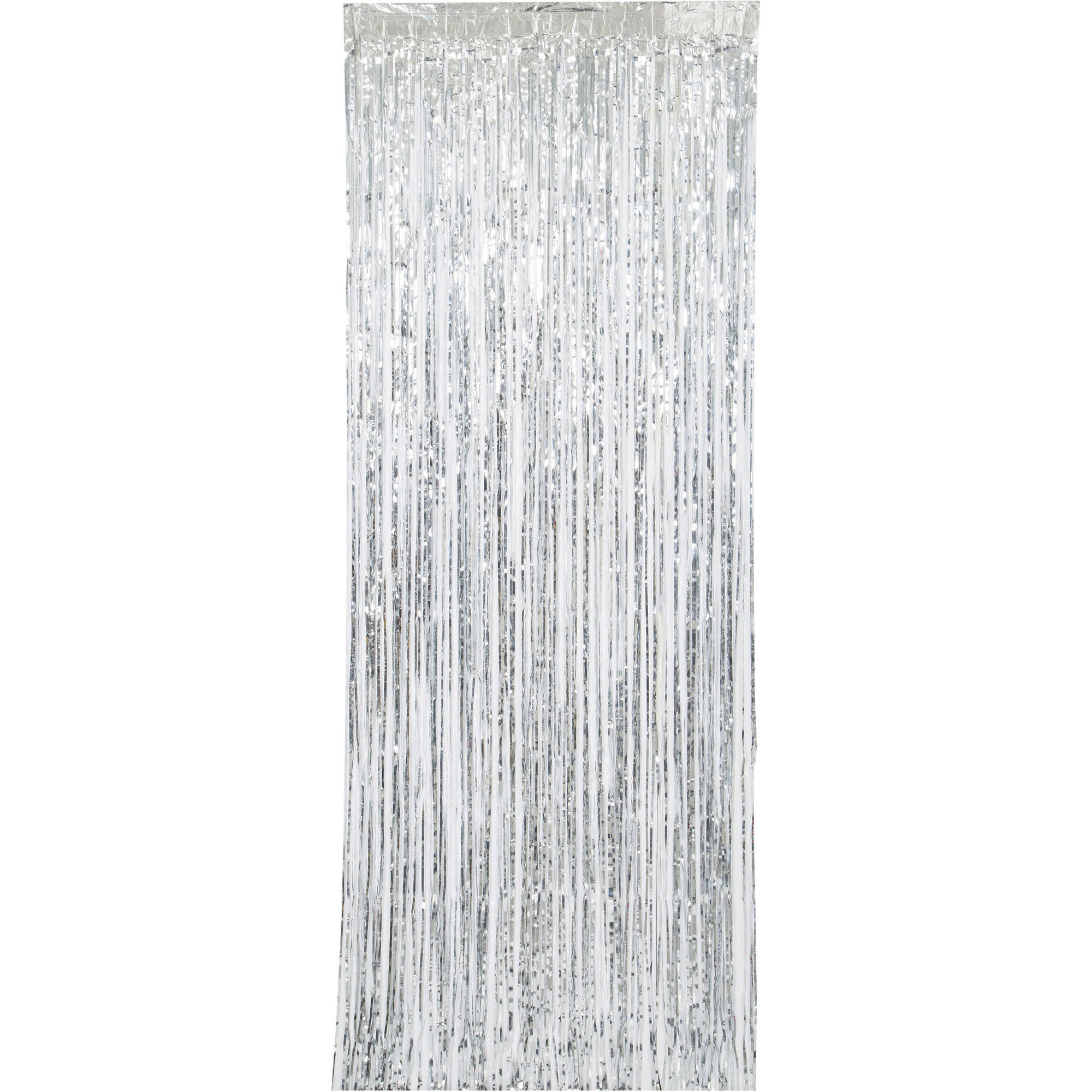 Silver Foil Fringe Curtain, 3ft x 8ft