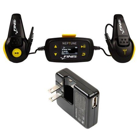 Neptune MP3 Player + Finis Universal Wall Charger for Swim Waterproof MP3 by
