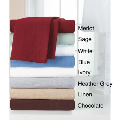 Heavyweight Cotton Flannel Sheet Set Twin Sheet Set - White