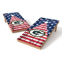 Green Bay Packers 2' x 4' Stars and Stripes Wood Design Authentic Tailgate Toss Set - No Size