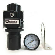 "Interstate Pneumatics WR1160G 3/8"" Air Regulator - w/Gauge"