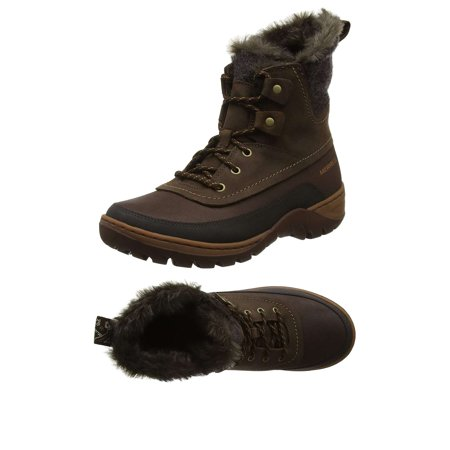 Merrell Women's Sylva Mid Lace Waterproof Winter Boots (Merrell Women Boots Winter)