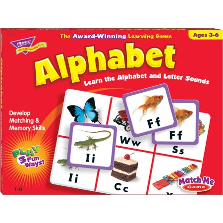 - Trend, TEPT58101, Match Me Alphabet Learning Game, 1 Each, Multi