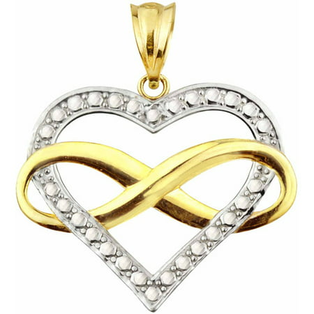Handcrafted Old Indian Jewelry (Handcrafted 10kt Gold Infinity Heart Charm Pendant)