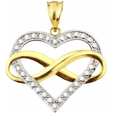 Handcrafted 10kt Gold Infinity Heart Charm - Time Charm 10kt Gold Jewelry