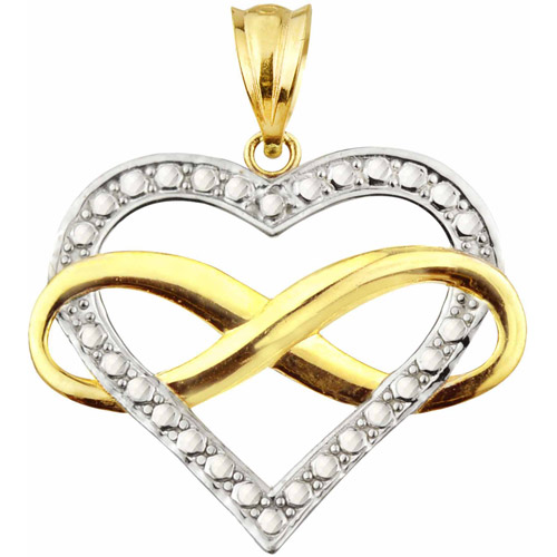 Handcrafted 10kt Gold Infinity Heart Charm Pendant
