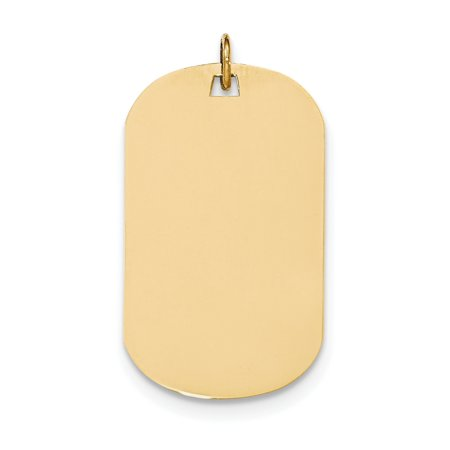 14k Plain .018 Gauge Engraveable Dog Tag Disc Charm