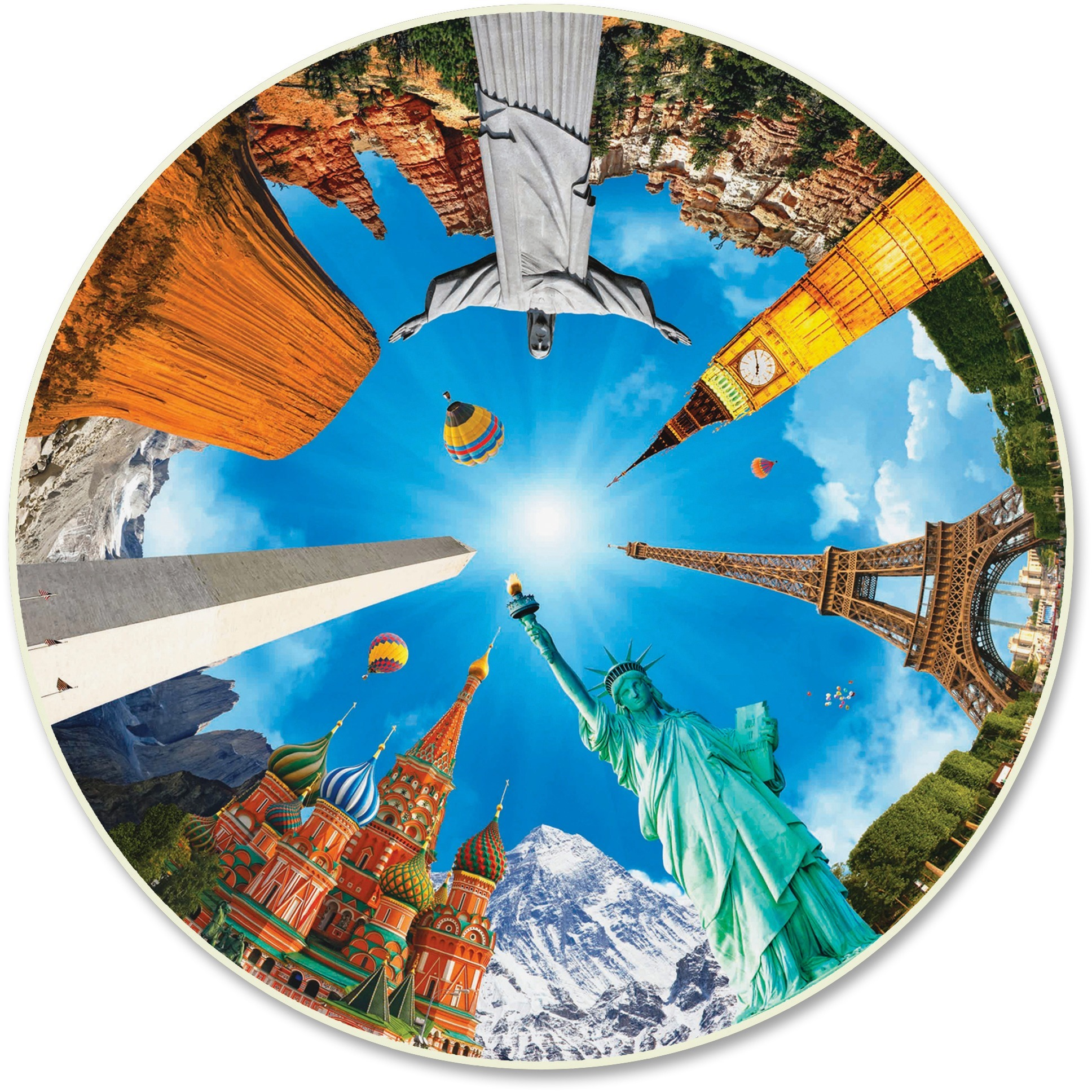 A Broader View's Round Table - Legendary Landmarks (500-piece)