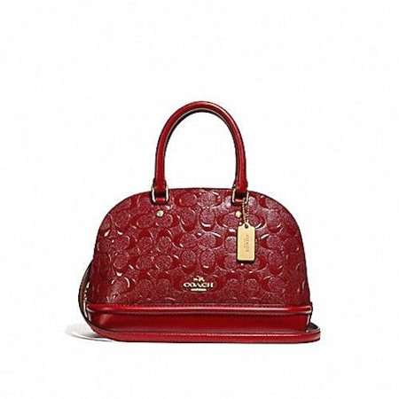 e12f96f7ba4d Coach - NEW WOMEN S COACH (F27597) SIGNATURE MINI SIERRA DARK RED SATCHEL  HANDBAG PURSE - Walmart.com