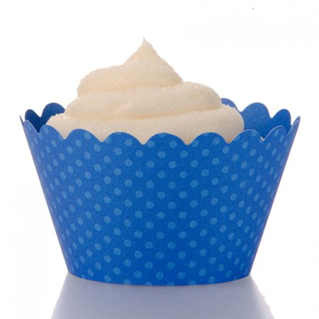 Dress My Cupcake Standard Royal Blue Cupcake Wrappers, Set of 100