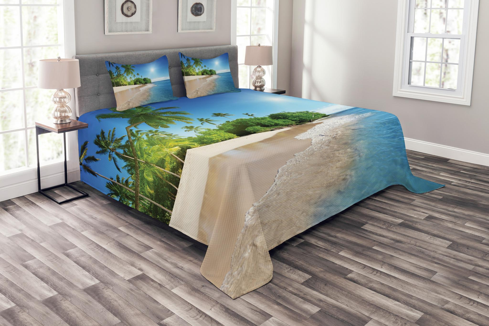 Anchor Duvet Cover Set with Pillow Shams Abstract Sea Grunge Worn Print