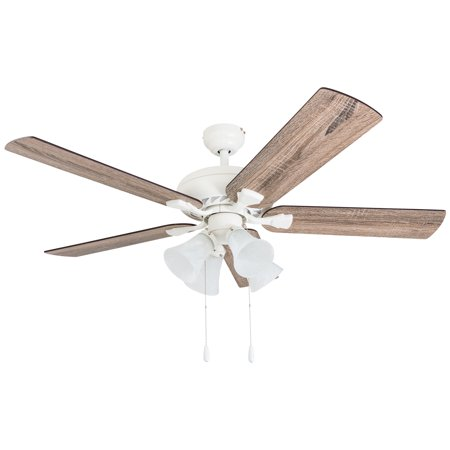 Prominence Home 50672 35 Boston Mills Farmhouse 52 Inch Canary White Indoor Ceiling Fan