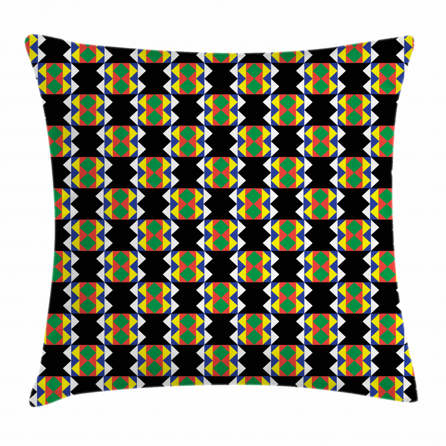 Kente Pattern Throw Pillow Cushion Cover South African Ethnic Zulu Design With Triangle Details Funky And Timeless Decorative Square Accent Pillow Case 20 X 20 Inches Multicolor By Ambesonne Walmart Com Walmart Com