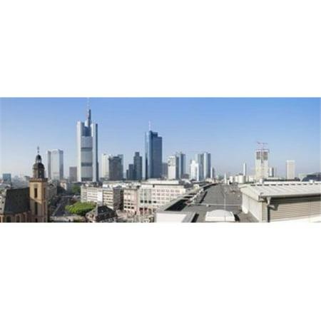 Images panoramiques PPI137825L ville sur la ville avec l'-glise Sainte-Catherine de plus le toit de la copie d'affiche de mus-e de la cath-drale de Francfort Hesse Allemagne par images panoramiques -  - image 1 de 1
