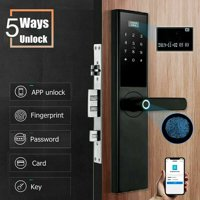 Smart Code Satin Nickel Electronic Deadbolt Featuring Smart Lock with Fingerprint Access & Touchscreen
