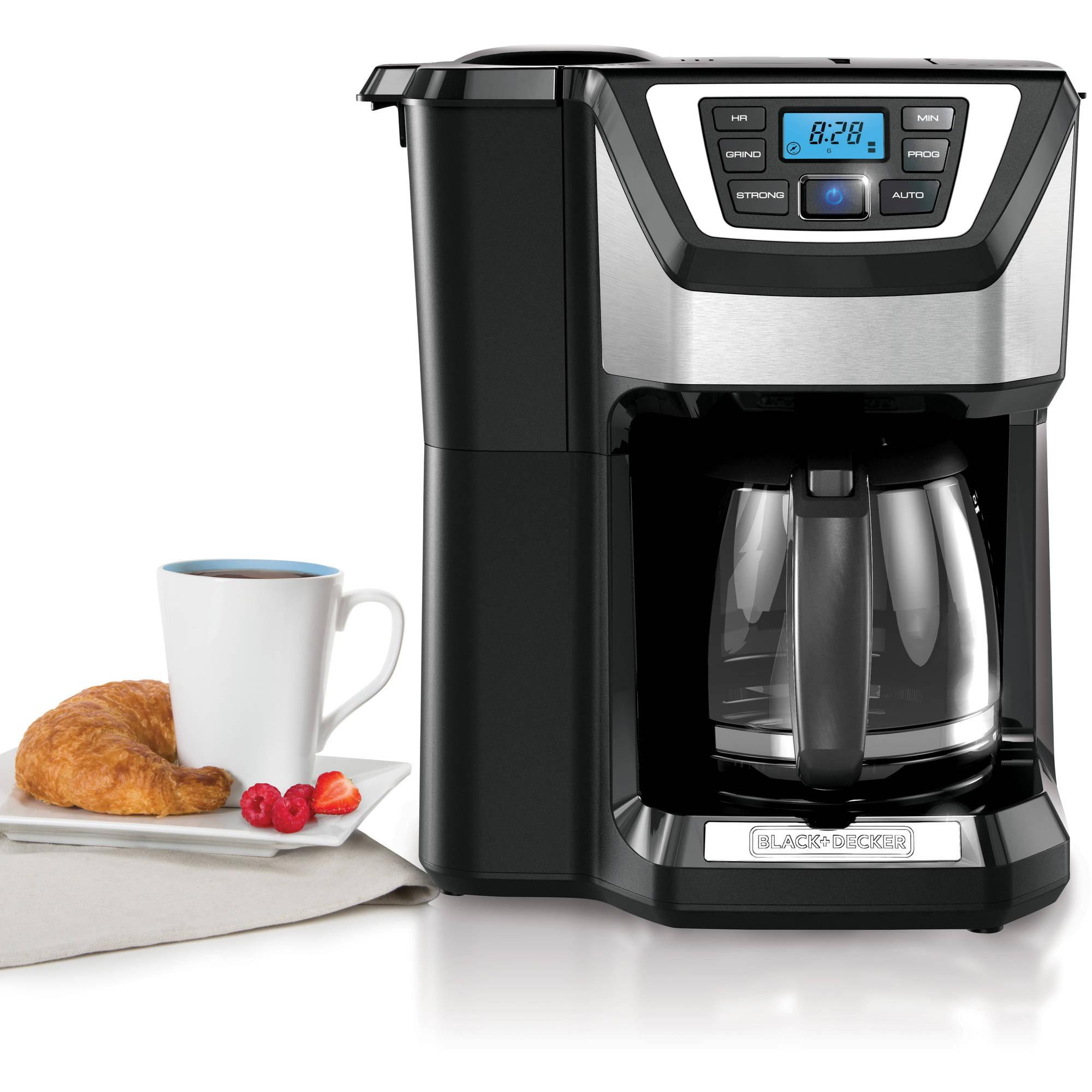 Uncategorized Black & Decker Kitchen Appliances blackdecker mill and brew 12 cup programmable coffee maker with grinder cm5000gd walmart com