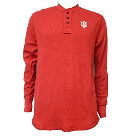 University of Indiana Hoosiers Waffle-Knit Thermal Long Sleeve Henly T-Shirt (Indiana University Merchandise)
