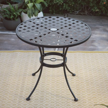 Grace Wrought Iron - Belham Living Capri Wrought Iron Bistro Patio Dining Table by Woodard